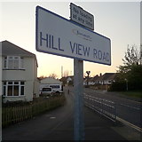 SZ0895 : Northbourne: Hill View Road by Chris Downer