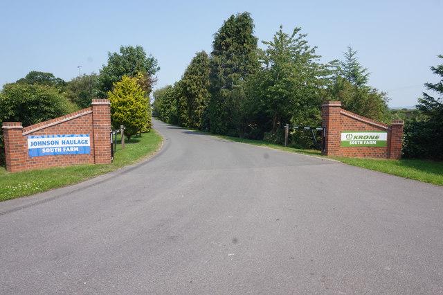 Entrance to Johnson Haulage, South Farm