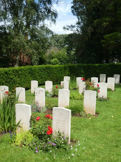 WW2 German war graves, Exeter Higher Cemetery