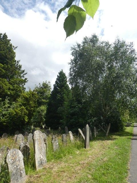 Old gravestones, Exeter Higher Cemetery