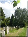 SX9393 : Old gravestones, Exeter Higher Cemetery by David Smith