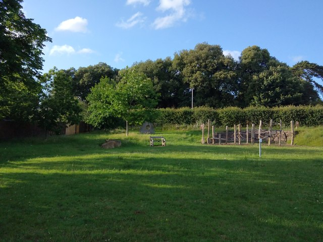 Bench and open air gym, off Dryden Road, Exeter