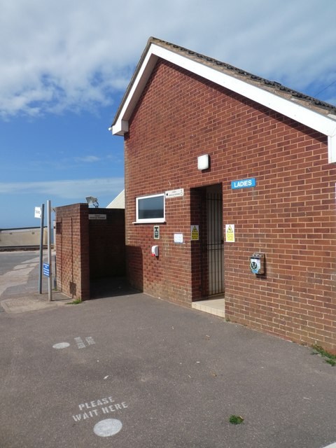 Toilet block, Exmouth sea front, during lockdown