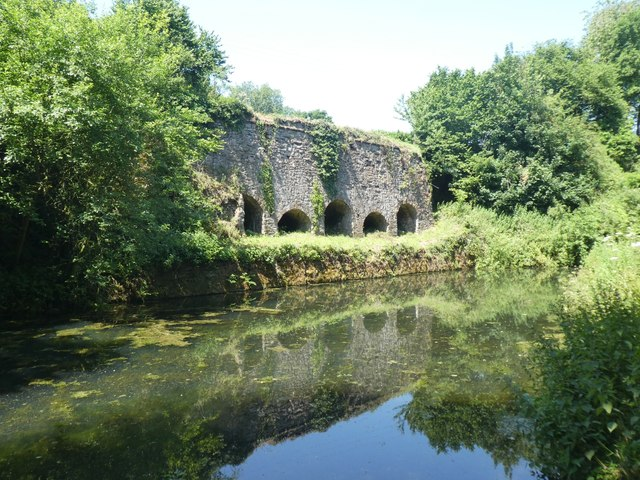 Former lime kilns at Waytown by canal