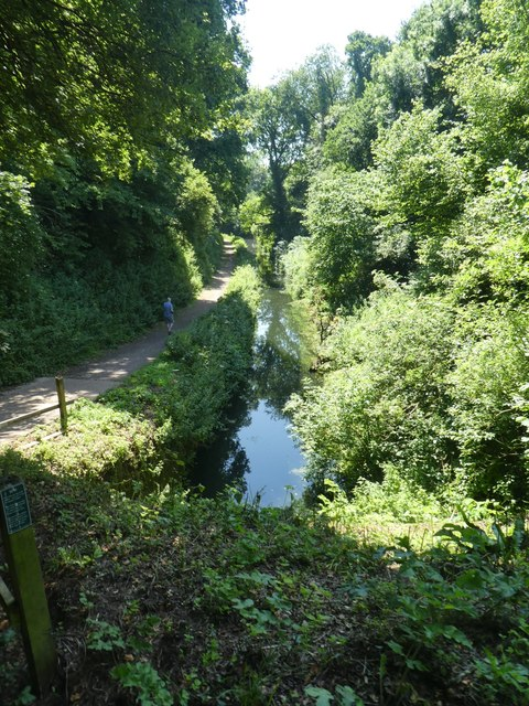 The Grand Western Canal from above Waytown Tunnel