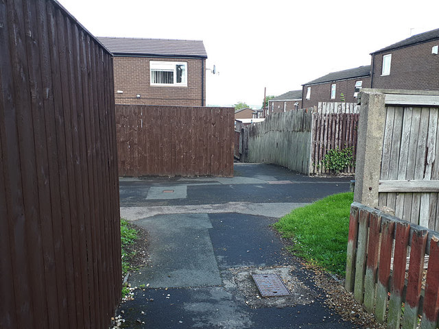 Path junction off Rossefield Drive