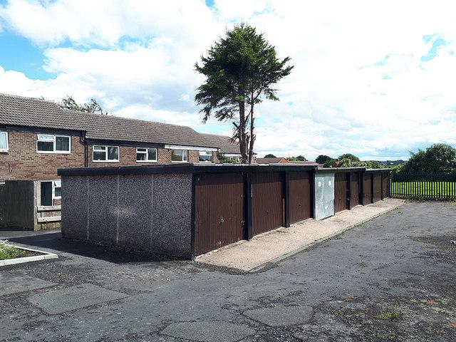 Lock-up garages, Rossefield Grove