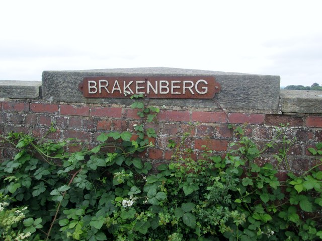 Nameplate  on  bridge  over  dismantled  railway  line by Martin Dawes