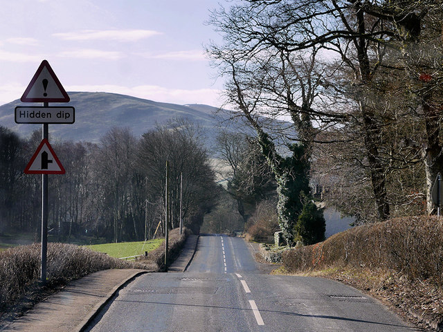 A701 south of Broughton