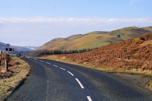 Southbound A701 near Stanhope