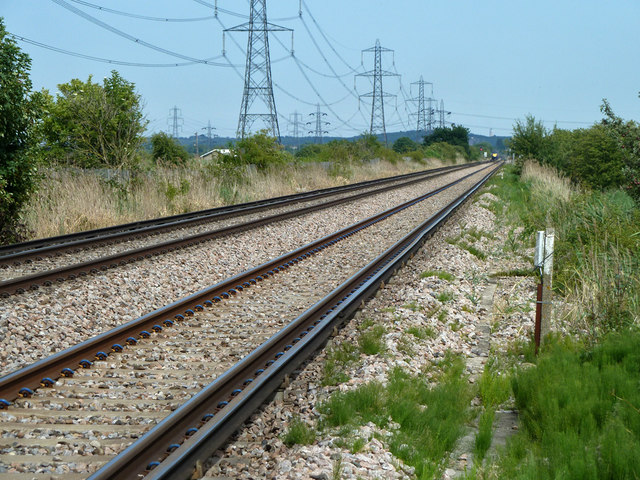Railway towards Hoo Junction, Higham and Strood