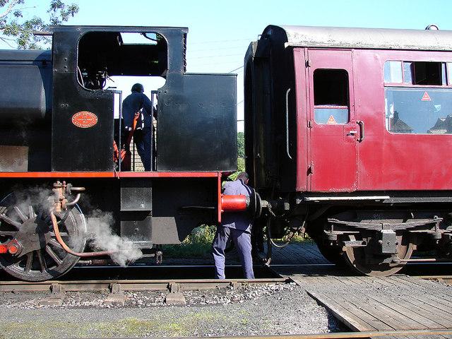 Coupling-up on the Gwili Railway