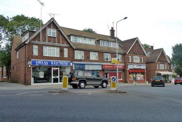 Shops at roundabout, Parrock Road, Gravesend
