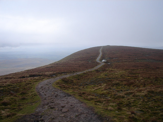 The final section of the ascent to Ingleborough