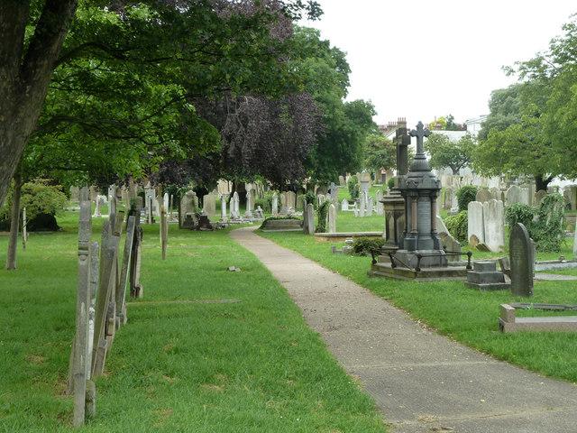 Path in Gravesend Cemetery