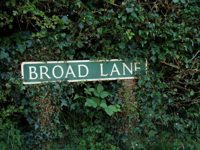 Broad Lane sign by Adrian Cable