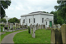 TQ6473 : Mortuary Chapel, Gravesend Cemetery by Robin Webster