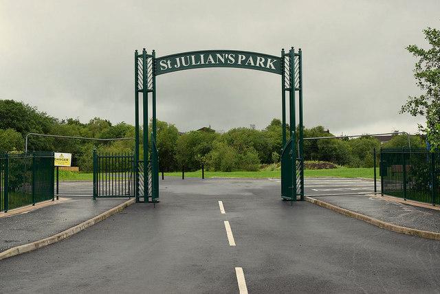 Main entrance, St Julian's Park, Lisanelly