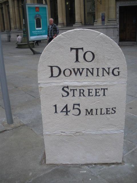 Commemorative Milestone in Westgate Square, Newport