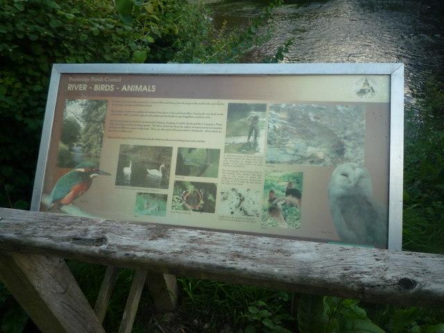 Sign at Pembridge Village Green Conservation Area