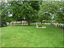TQ6473 : Site of catacombs, Gravesend Cemetery by Robin Webster