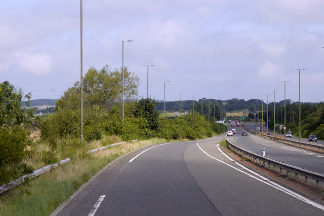 End of Link Road from M8 to Edinburgh Bypass