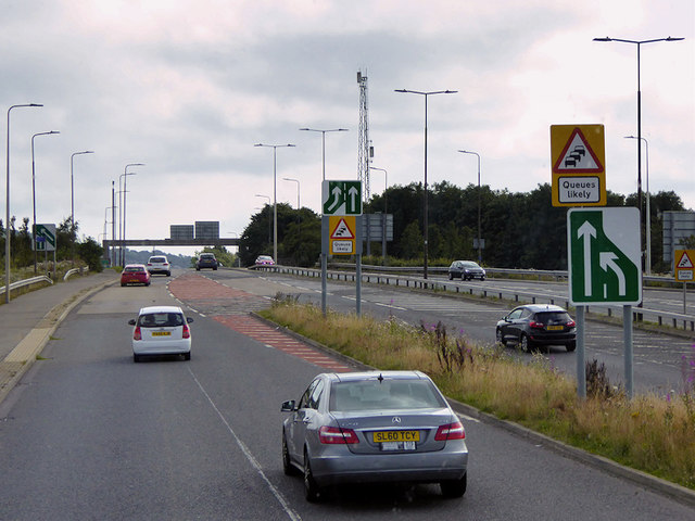 Link Road from Edinburgh Bypass to A8 near Edinburgh Gateway