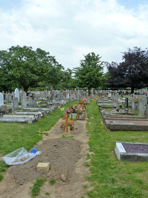 New graves, Gravesend Cemetery, 2011