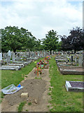 TQ6473 : New graves, Gravesend Cemetery, 2011 by Robin Webster