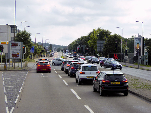 Traffic Lights on the A8, Glasgow Road