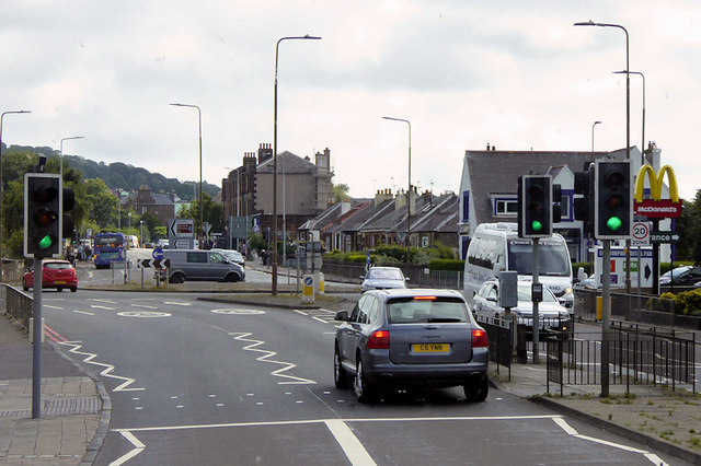 A8 at Drumbrae Roundabout