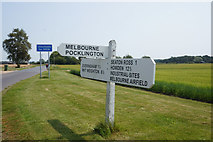 SE7842 : Road sign on Everingham Road at Rytham Gate by Ian S