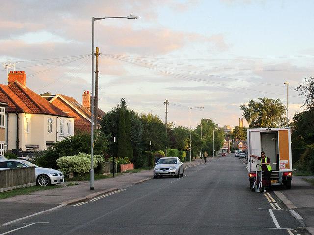 Coleridge Road on a midsummer evening