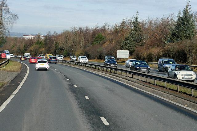 A720 City of Edinburgh Bypass near to Juniper Green