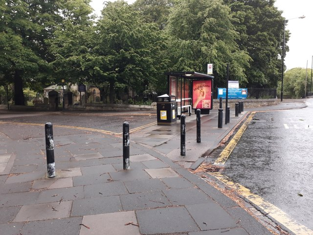 Bus stop, Station Road, Gosforth, Newcastle upon Tyne