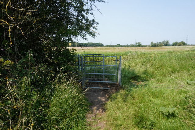 Kissing gate, Pocklington Canal near Bielby