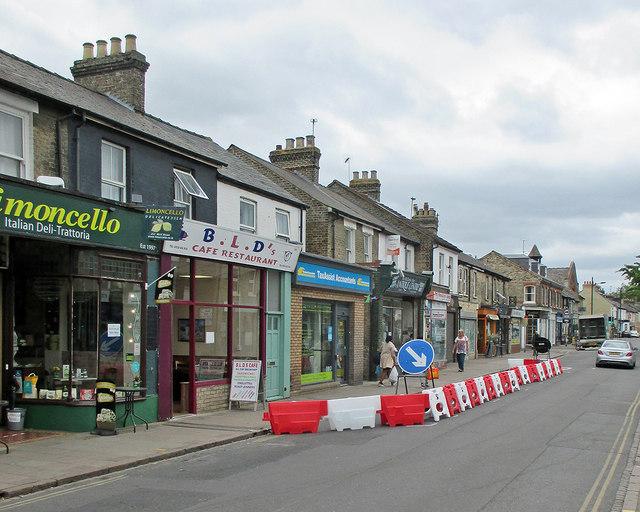 Mill Road: road narrowed