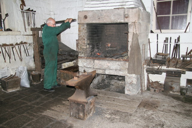 Cromford and High Peak Railway workshops - forge