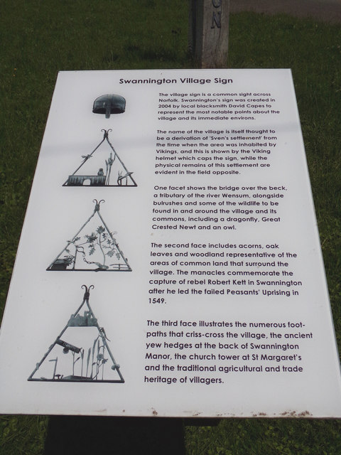 Swannington Village sign Information Board by Adrian Cable