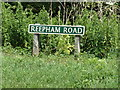 TG1218 : Reepham Road sign by Adrian Cable