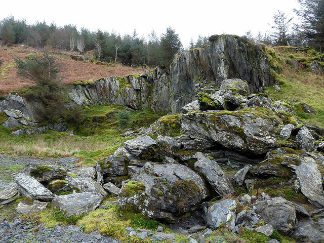 An abandoned quarry above Cwm Pemprys