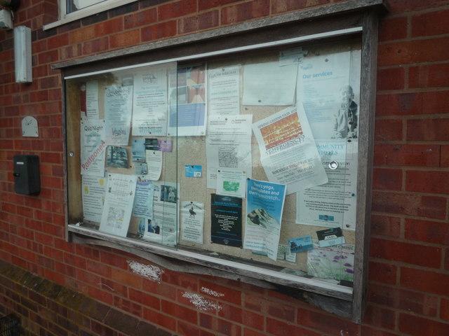 Information Board on Pembridge Village Hall