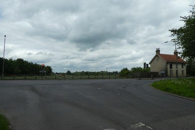 Traffic lights on Westfield Way