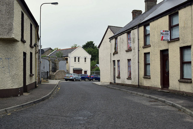 Old houses along Dublin Street, Newtownstewart