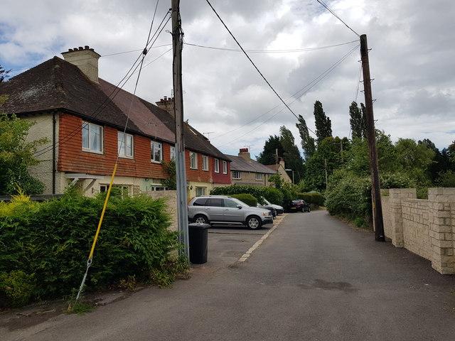 Row of houses of Shripney Lane