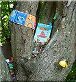 SX8862 : Tree adornment, Occombe Valley by Derek Harper