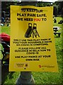 NS5473 : Notice at the playground by Richard Sutcliffe
