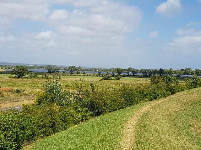 Solar farm at Shripney from Bersted