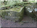 NY5965 : Benchmark, Combcrag Wood by Adrian Taylor