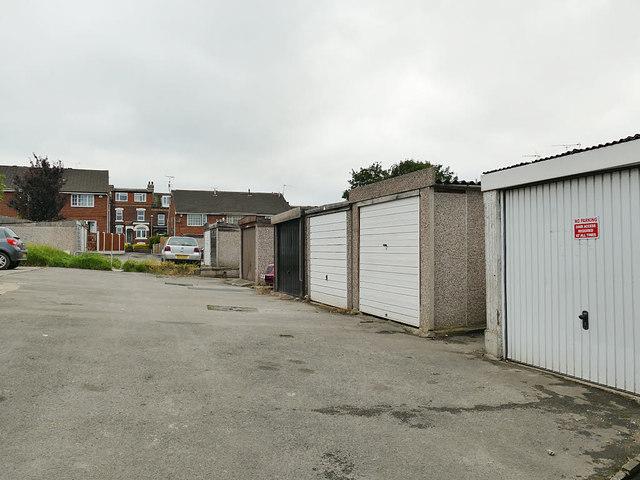 Lock-up garages, Elmfield Grove, Wortley